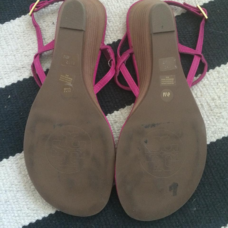 a83ace700 Tory Burch Pink Emmy Demi-wedge Thong Sandals Size US 6.5 Regular (M ...