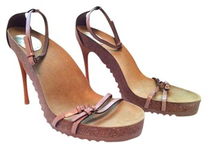 Stella McCartney Heels Mauve and Cork Sandals