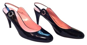 Isaac Mizrahi Work Comfortable Heels Black Patent Sandals