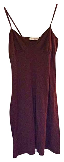 Item - Brown Chocolate Slip Above Knee Short Casual Dress Size 8 (M)