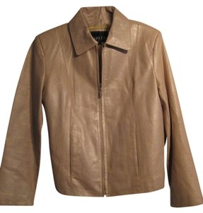 Adler Collection Fully Lined Beige Leather Jacket