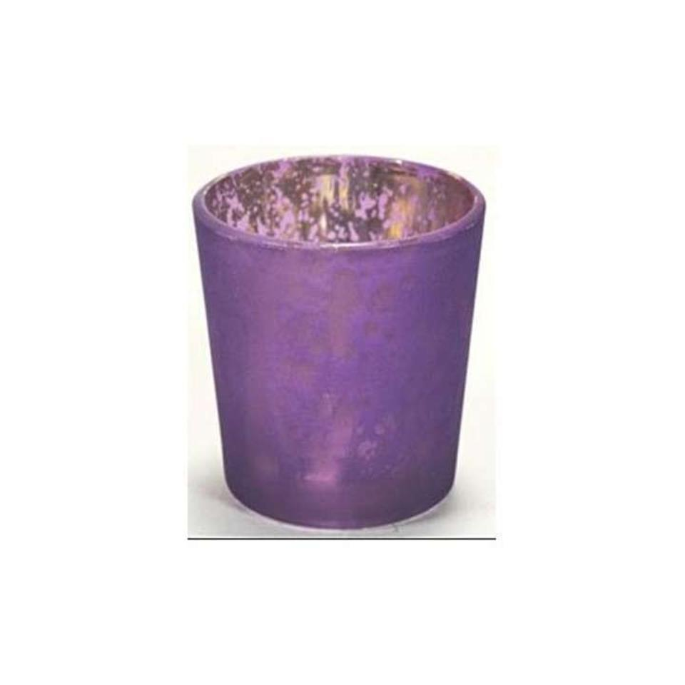 Eggplant Purple 60 Mercury Gl Holder Votive Candle