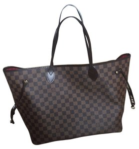 Louis Vuitton Gm Lv Tote in Damier Ebene Canvas