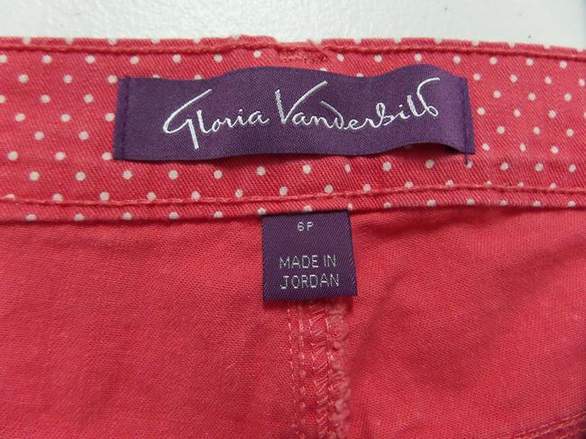 Gloria Vanderbilt Capris Dark Pink with White Polka Dots