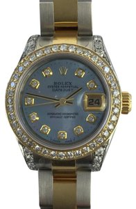 Rolex Rolex Ladies Date Two Tone Diamond Dial Bezel
