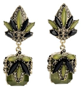 House of Harlow 1960 House of Harlow Art Deco Style Chandelier Dangle Earrings