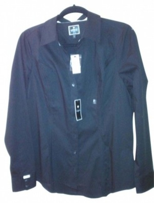 Preload https://item3.tradesy.com/images/express-black-long-sleeve-essential-shirt-button-down-top-size-12-l-36002-0-0.jpg?width=400&height=650