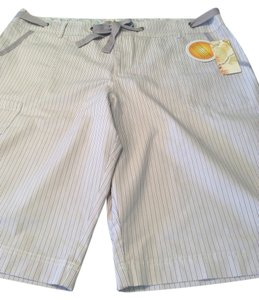Weatherproof Bermuda Shorts Purple/white stripe