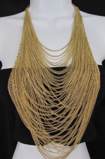 Preload https://item5.tradesy.com/images/women-16-long-gold-multi-waves-strands-chains-fashion-necklace-earrings-3600469-0-0.jpg?width=440&height=440