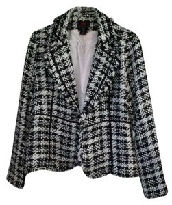True Meaning Black and White Blazer