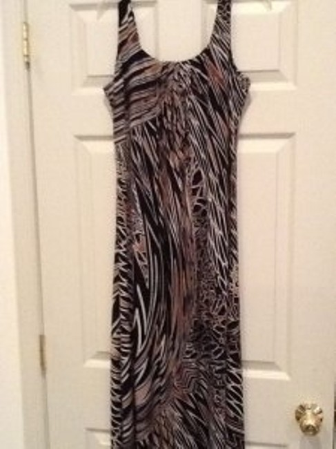 Black, brown Maxi Dress by Other