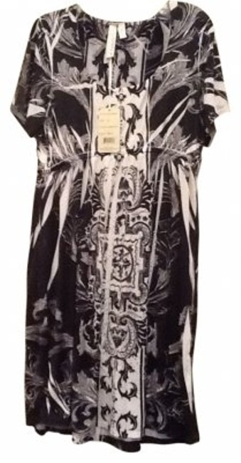 Item - Black Grey White Sublimation Or Cover Up Above Knee Short Casual Dress Size 22 (Plus 2x)