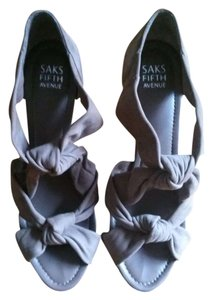 SAKS FIFTH AVENUE TAN Wedges