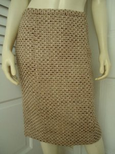 Ann Taylor LOFT Straight Tweed Lined Retro Mad 60s Wool Blend Classy Skirt Multi-Color