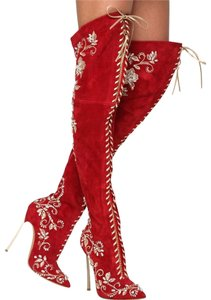 Casadei Red Boots