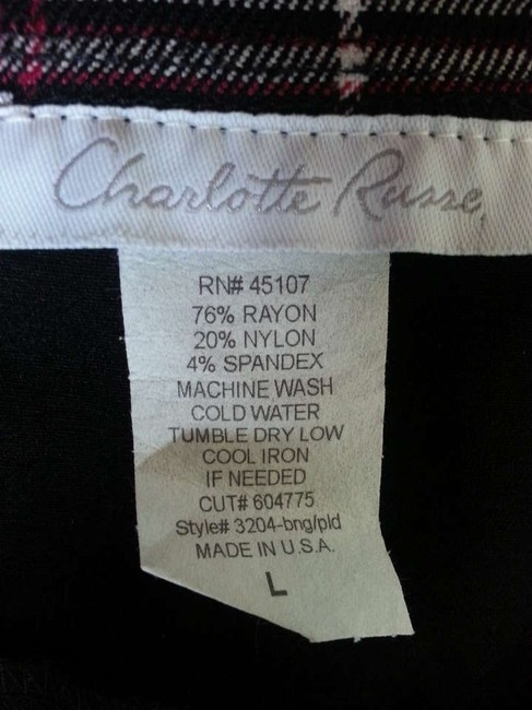 Charlotte Russe Vest Top Black/Red