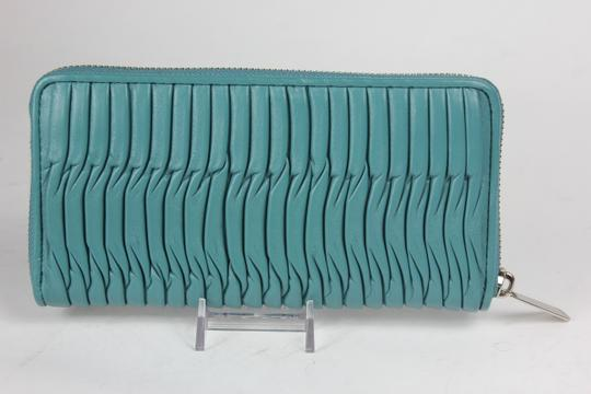 Coach * Coach Taylor Gathered Leather Zip Around Wallet - Green