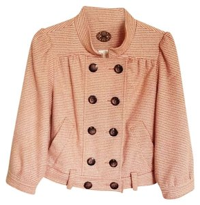 Anthropologie Jacket Cropped Houndstooth Pea Coat