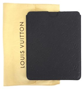 Louis Vuitton Black Monogram Leather Soft Tablet Case (One Size)