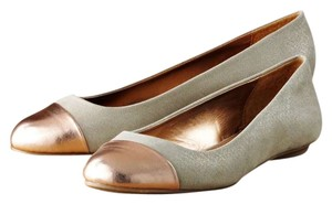 Jennifer Lopez Metallic Flats