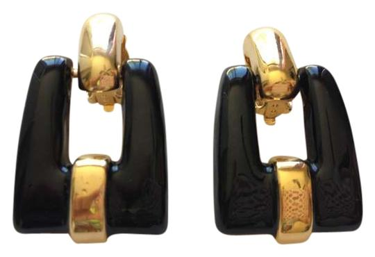 St. John Gold Tone, Black Enamel, Door Knocker