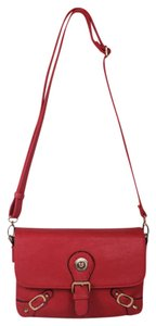 Raf Rossi Gold Plated Messenger Trendy Coral Messenger Bag