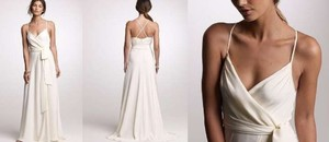 J.Crew Ivory Silk Tricotine Goddess Gown 4p Casual Wedding Dress Size 6 (S)