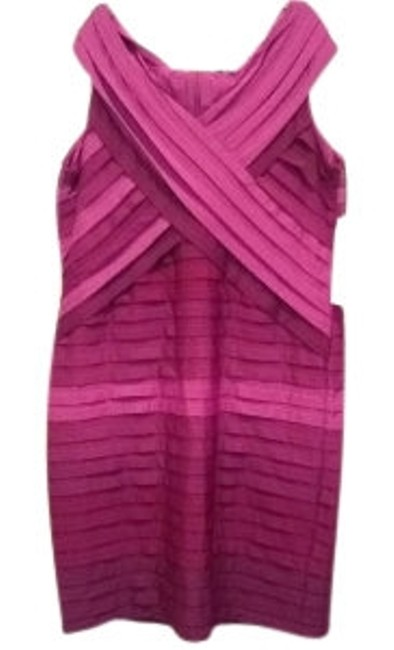 Item - Plum Ombr Bandage Style 1x Knee Length Cocktail Dress Size 20 (Plus 1x)