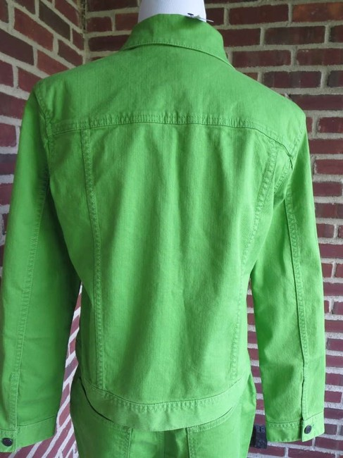 Talbots Green strech denim jacket and matching jeans