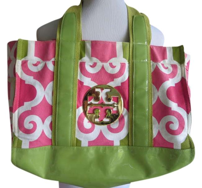 Item - Pink and Green Cotton Tote