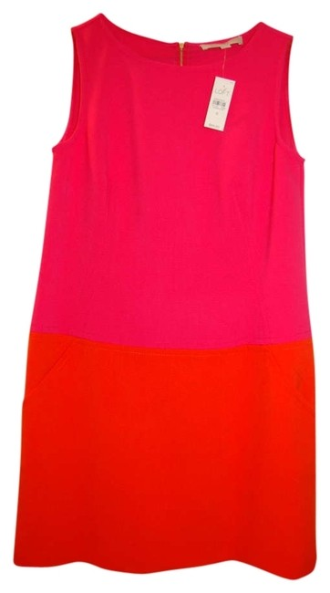 Ann Taylor Loft short dress Pink/Orange on Tradesy