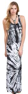 Tie Dye Black and White Maxi Dress by Go Couture Maxi Summer