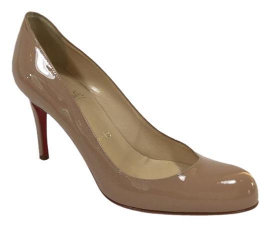 Preload https://item3.tradesy.com/images/christian-louboutin-nude-simple-85-patent-leather-pumps-size-us-55-regular-m-b-3607687-0-3.jpg?width=440&height=440