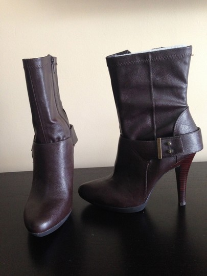 Nine West Faux Leather Dark Brown Boots