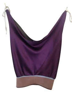 Cesar Arellanes Silk Holiday Top Plum/light olive