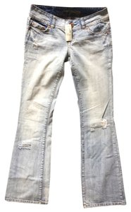 American Eagle Outfitters Distressed 100% Cotton Flare Leg Jeans-Distressed