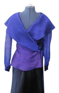POSITIVELY ELLYN Vintage Sheer Fabric Top PURPLE