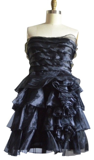 Preload https://item4.tradesy.com/images/jessica-simpson-black-strapless-sheer-ruffled-tiered-short-prom-above-knee-cocktail-dress-size-6-s-3609538-0-0.jpg?width=400&height=650
