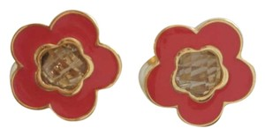 St. John Coral Flower Earrings