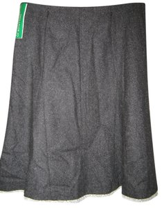 United Colors of Benetton Trumpet Fleecewool Blend Skirt Gray