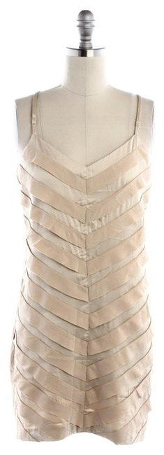 Preload https://item5.tradesy.com/images/esley-champagne-chevron-ruffle-above-knee-cocktail-dress-size-4-s-3611284-0-0.jpg?width=400&height=650