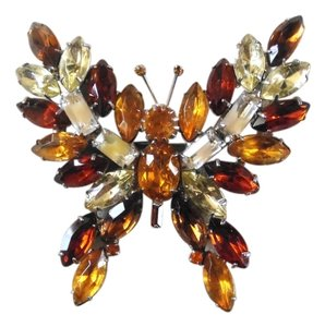 Kenneth Jay Lane Vintage Large Kenneth Jay Lane Rhinestone Butterfly Pin