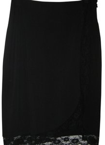 The Limited Lace Trim Skirt Black