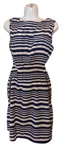 Feathers short dress White and navy Striped (Reserved For Jacqueline) on Tradesy