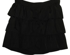 KNT by Kova Ruffle Mini Skirt Black