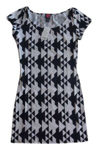 2b bebe short dress Black Checkered Bodycon Clubwear on Tradesy