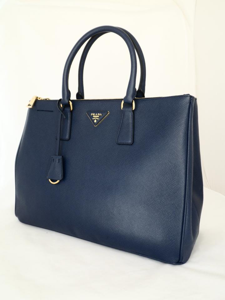 a68308e1ef3f Prada Double Lux Bn1786 New-def Bluette Saffiano Lux Leather Tote ...
