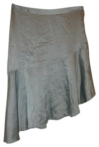 H&M 100% Silk Asymmetrical Skirt Mint Green