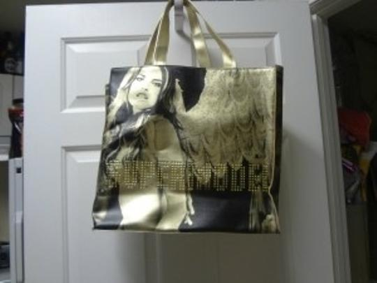 Victoria's Secret Tote in metallic gold and black