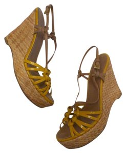 Prada Yellow/Tan Sandals